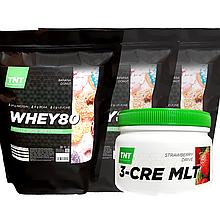 Muskle Масс-комплект Протеин 6 кг Poland ваниль + Креатин в Подарок