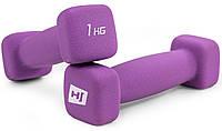 Набор гантелей неопреновых квадратных Hop-Sport HS-V010DS 2х1 кг