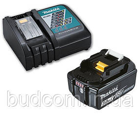 Аккумулятор Li-ion BL1830B + быстрозарядное устройство Makita DC18RC (191A24-4)