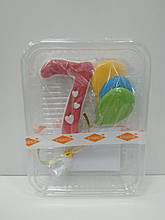 "Цифра з кульками рожева ""7"""