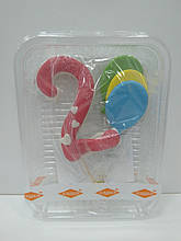 "Цифра з кульками рожева ""2"""