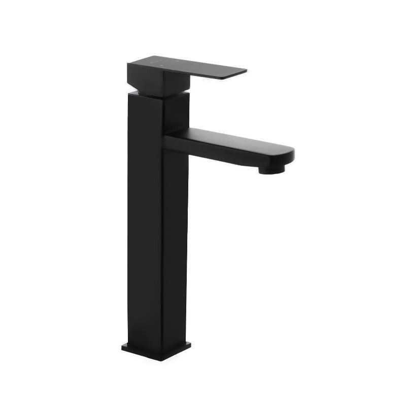 Смеситель для рукомойника чаша Mixxus Kub 001 High Black из нержавеющей стали черный