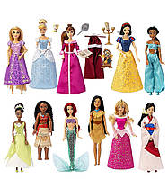 Набір ляльок з 11 принцес Disney ( Жасмін, Бель, Моана, Аріель, Тіана, Попелюшка, Білосніжка, Рапунцель)