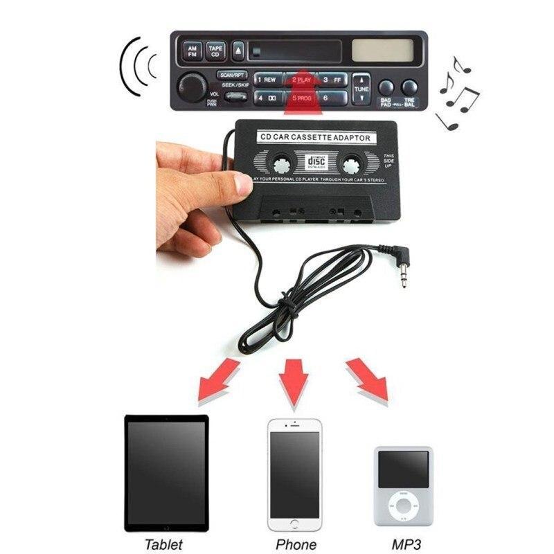Кассетный адаптер для автомагнитолы, кассета переходник на плеер CD MD MP3 MiniDisc