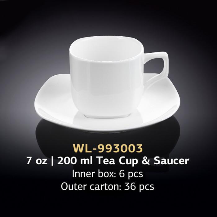 Чайная чашка с блюдцем 200 мл (Wilmax) WL-993003