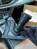 Женские UGG кожаные черные (копия), фото 8