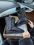 Женские UGG кожаные черные (копия), фото 6