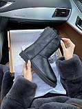 Женские UGG кожаные черные (копия), фото 4