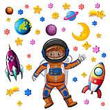 Набір наклейок «Космонавт», фото 2