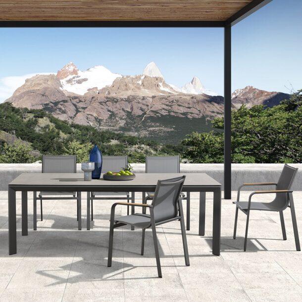 Обеденный комплект уличной мебели RONA из стола 220*90*75 и 8 кресел
