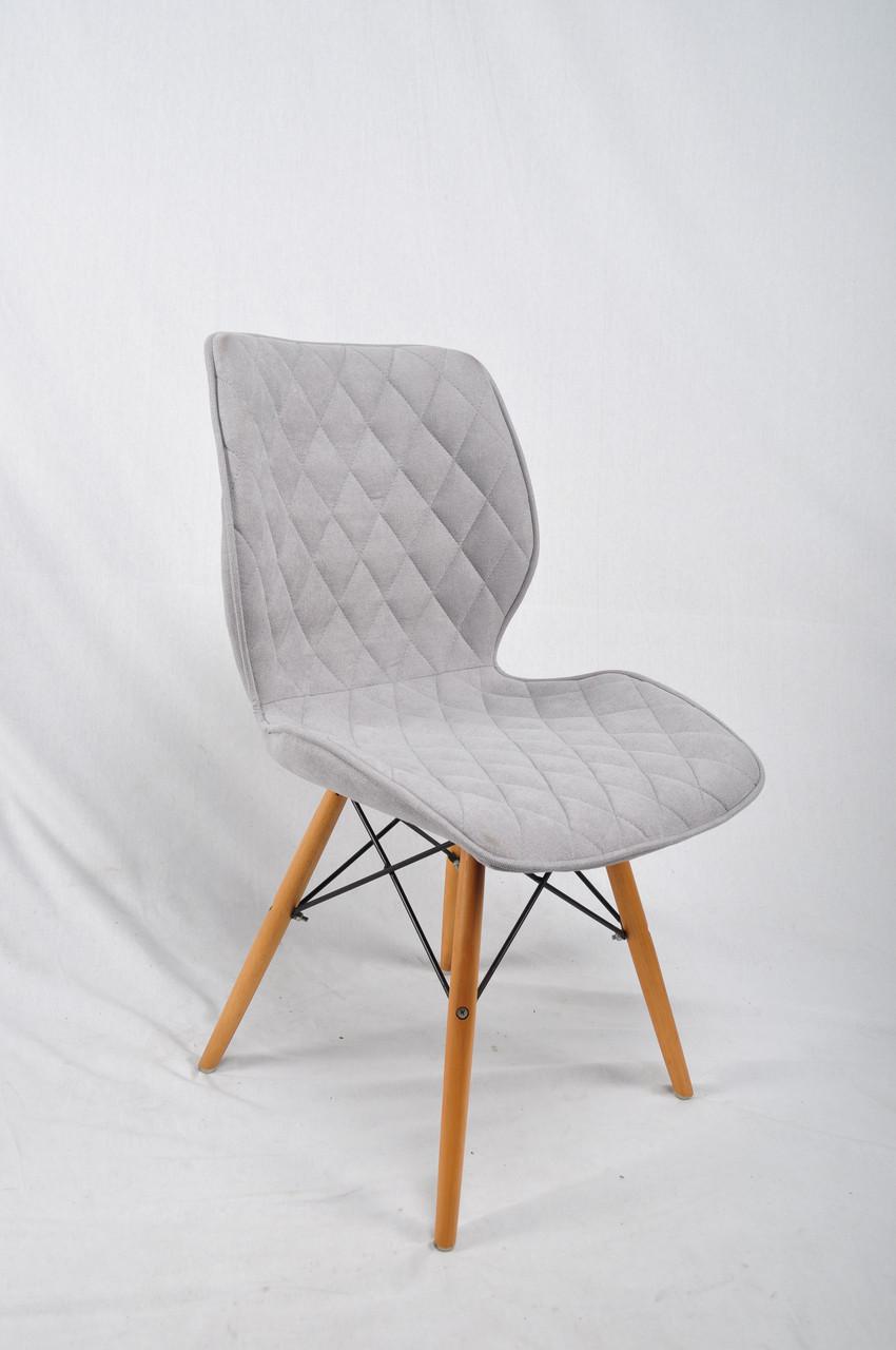 Обеденный стул Nolan Ш-Л (Нолан) светло - серая ткань, на деревянных ногах