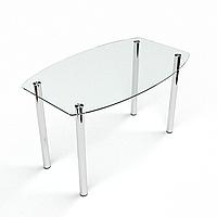 Стол обеденный из стекла модель Бочка прозрачный
