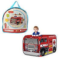 Детская палатка игровая Пожарная Машина, палатка для мальчика тканевая