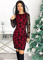 Женское новогоднее вечернее мини платье