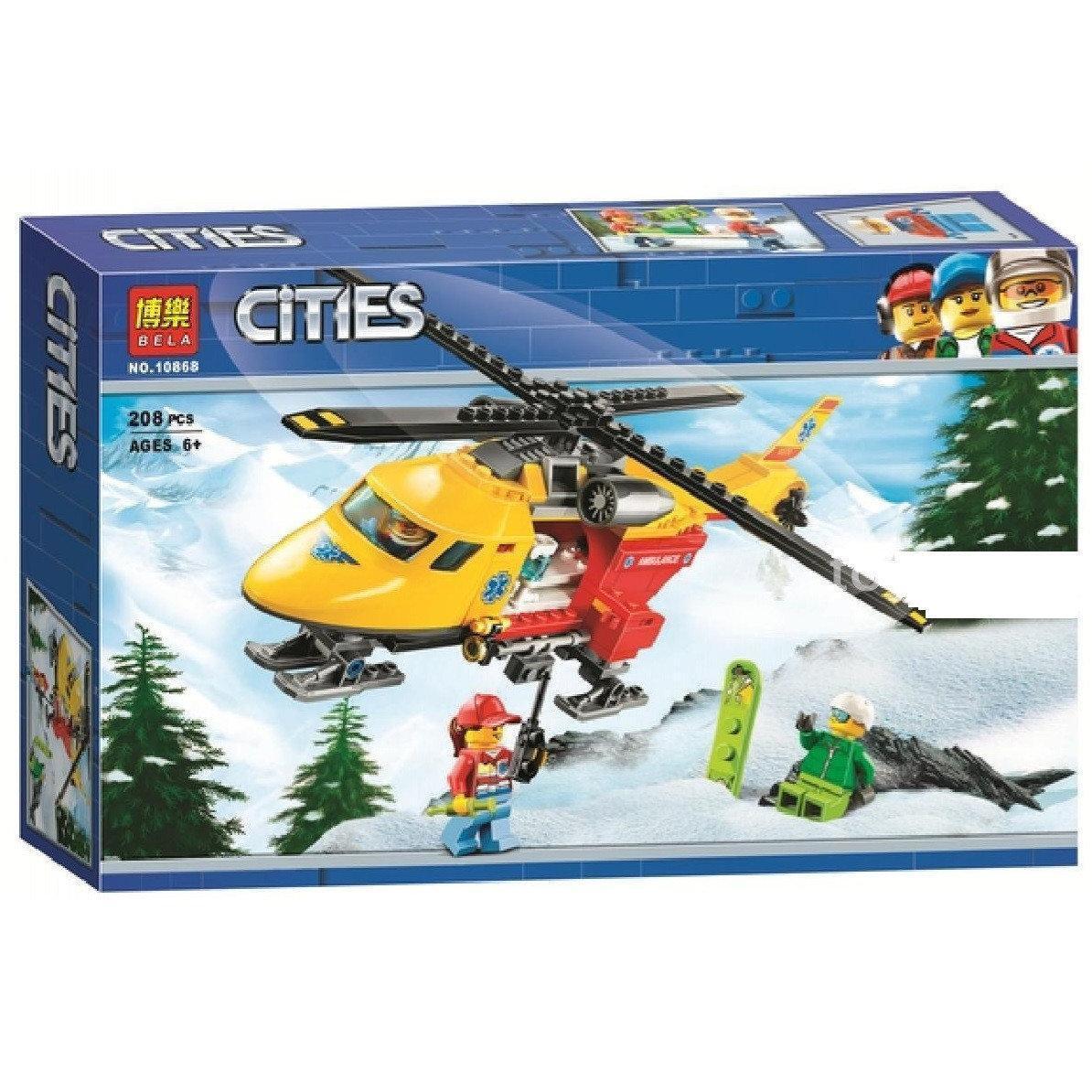 """Конструктор """"Вертолет скорой помощи"""" (аналог Лего) Bela 10868"""