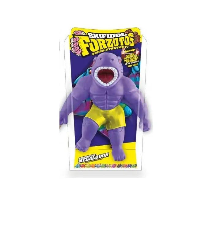 Игрушка антистресс растягивающаяся Форзутос Фиолетовый Мегалодон 14 см. Skifidol FORZ1-11