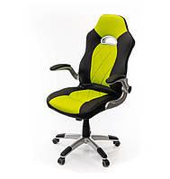 Кресло офисное на колесиках АКЛАС Форсаж-8 TILT компьютерное кресло экокожа, салатовый с нагрузкой до 120 кг