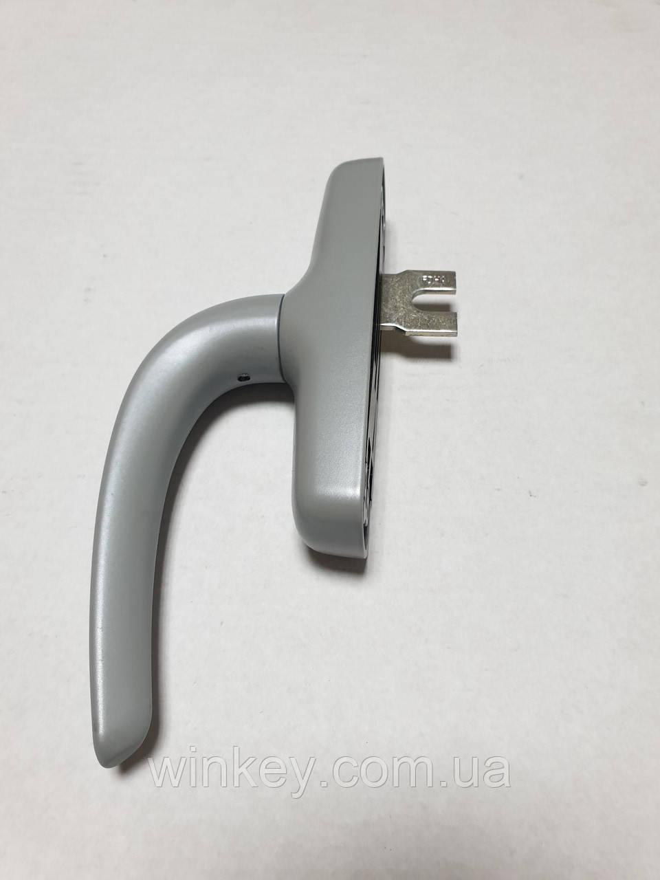 Ручка оконная FAPIM NEFER Midi 0757Ві серая для алюминиевых окон