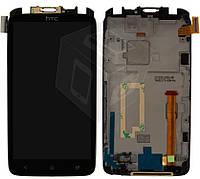 Дисплейный модуль (дисплей + сенсор) для HTC One X S720e G23, c передней панелью, оригинал
