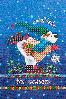 """Схема для вышивания бисером """"Новогодний мишка"""""""