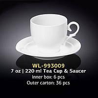 Чайная чашка с блюдцем 220 мл (Wilmax) WL-993009
