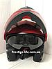 Мотошлем DFG Модуляр с очками + Подарки: Перчатки, Маска, Чехол, фото 6