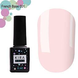 Kira Nails French Base 001 (ніжно-рожевий), 6 мл