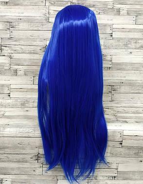 Длинные синие парики - 100см, прямые волосы, косплей, анимэ, фото 2