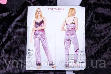 Комплект жіночій піжама, оксамит, Туреччина, розмір XL