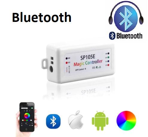 SPI smart контроллер Bluetooth SP105E DC5-24V. Для адресной ленты RGB/RGBW  WS2811, WS2812, 1804, 6803, 1903