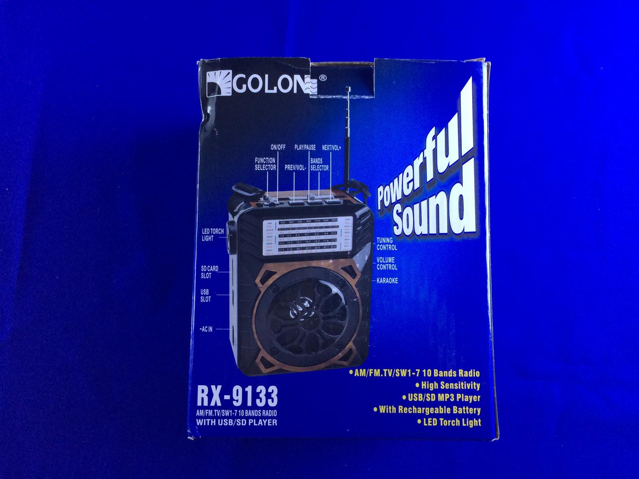 Современный Радиоприемник RX-9133 c SD-USB Golon