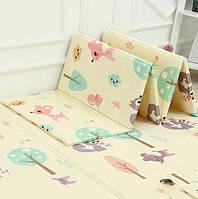 Вспененный детский развивающий коврик Children GO 180* 150 , двусторонний, с рисунками и текстурным покрытием, фото 1