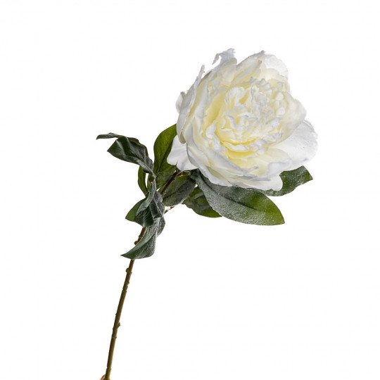 Новогодний пион 74 см белый