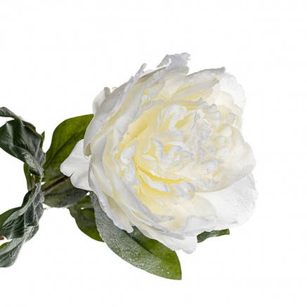 Новогодний пион 74 см белый, фото 2
