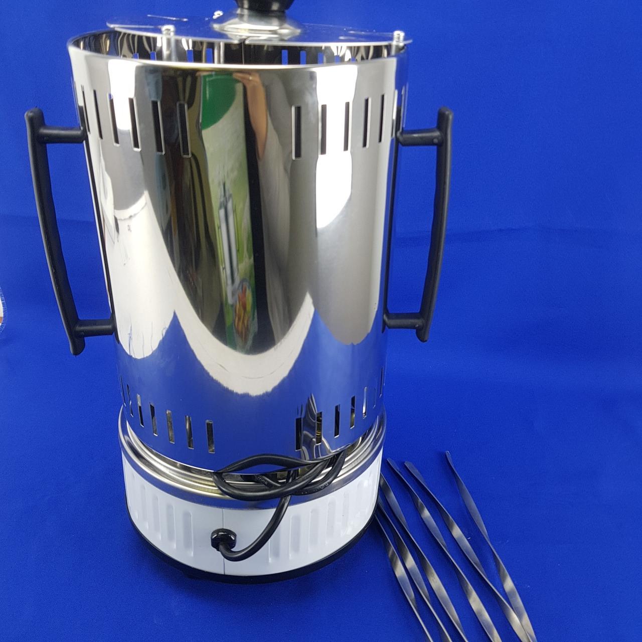 Электрошашлычница Помощница 1000 Вт на 6 шампуров с таймером