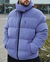 Зимова чоловіча куртка Пушка Огонь Homie Silk місячний індиго, фото 1