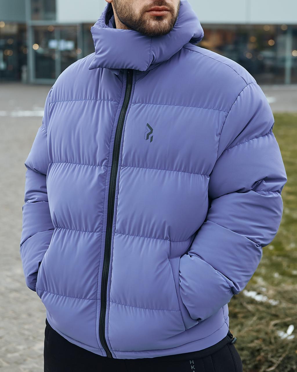 Зимняя мужская куртка Пушка Огонь Homie Silk лунный индиго