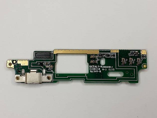 Разъем зарядки для HTC Desire 820 с нижней платой оригинал б.у., фото 2
