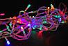 Светодиодная гирлянда разноцветная 300 Led лампочек, 13 метров, Белый кабель, гирлянда на елку (NV)