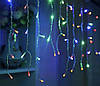 Led гирлянда новогодняя 2.3 метра, 120 LED Разноцветная, белый кабель, светодиодная лед гирлянда (NV)
