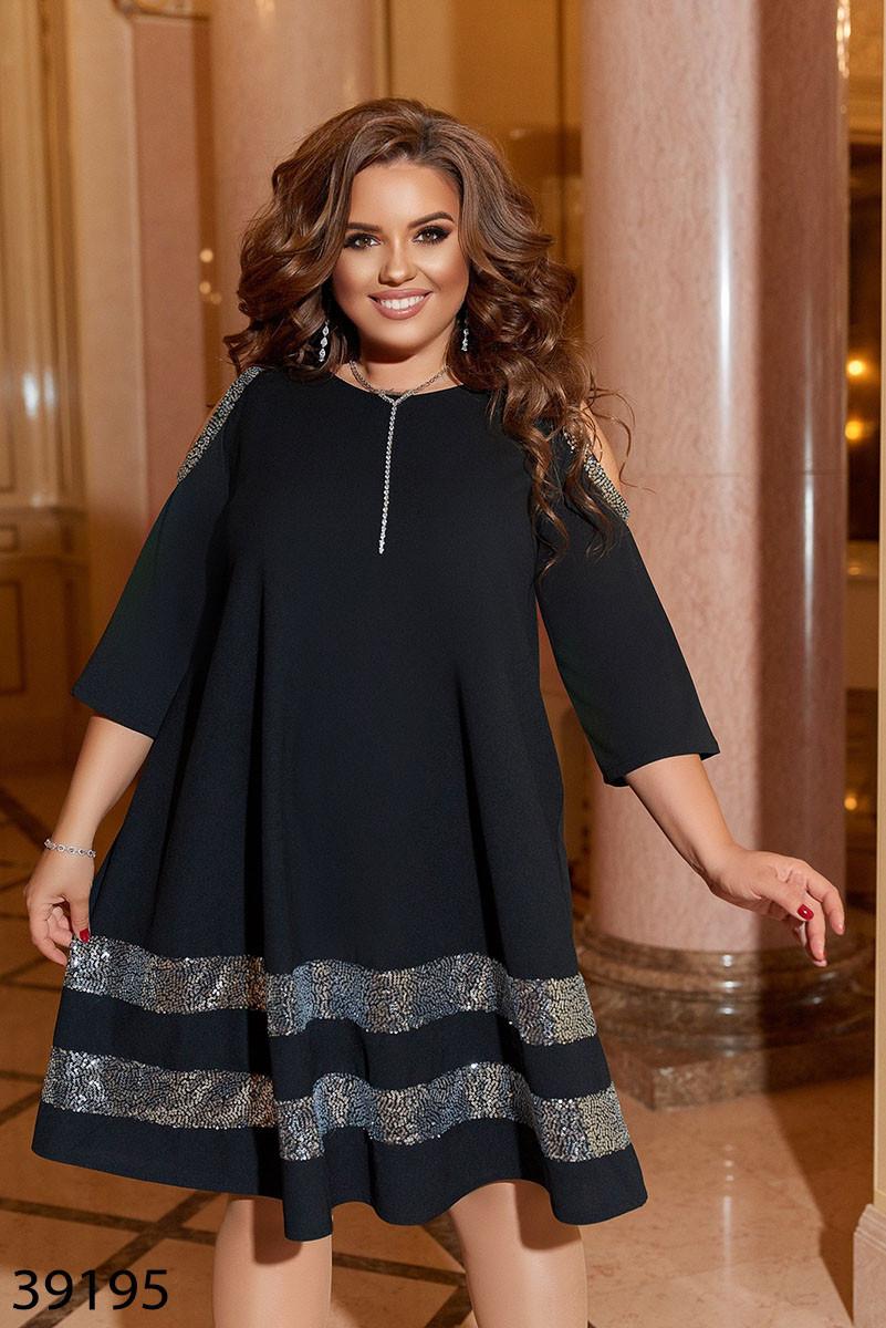 Нарядное женское платье батал Размеры:  50-52 54-56 58-60