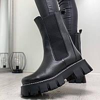 Женские ботинки челси из натуральной кожи.