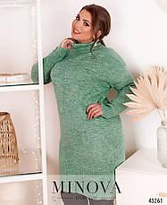 Женский свитер-туника с хомутом размер:50-56, фото 2