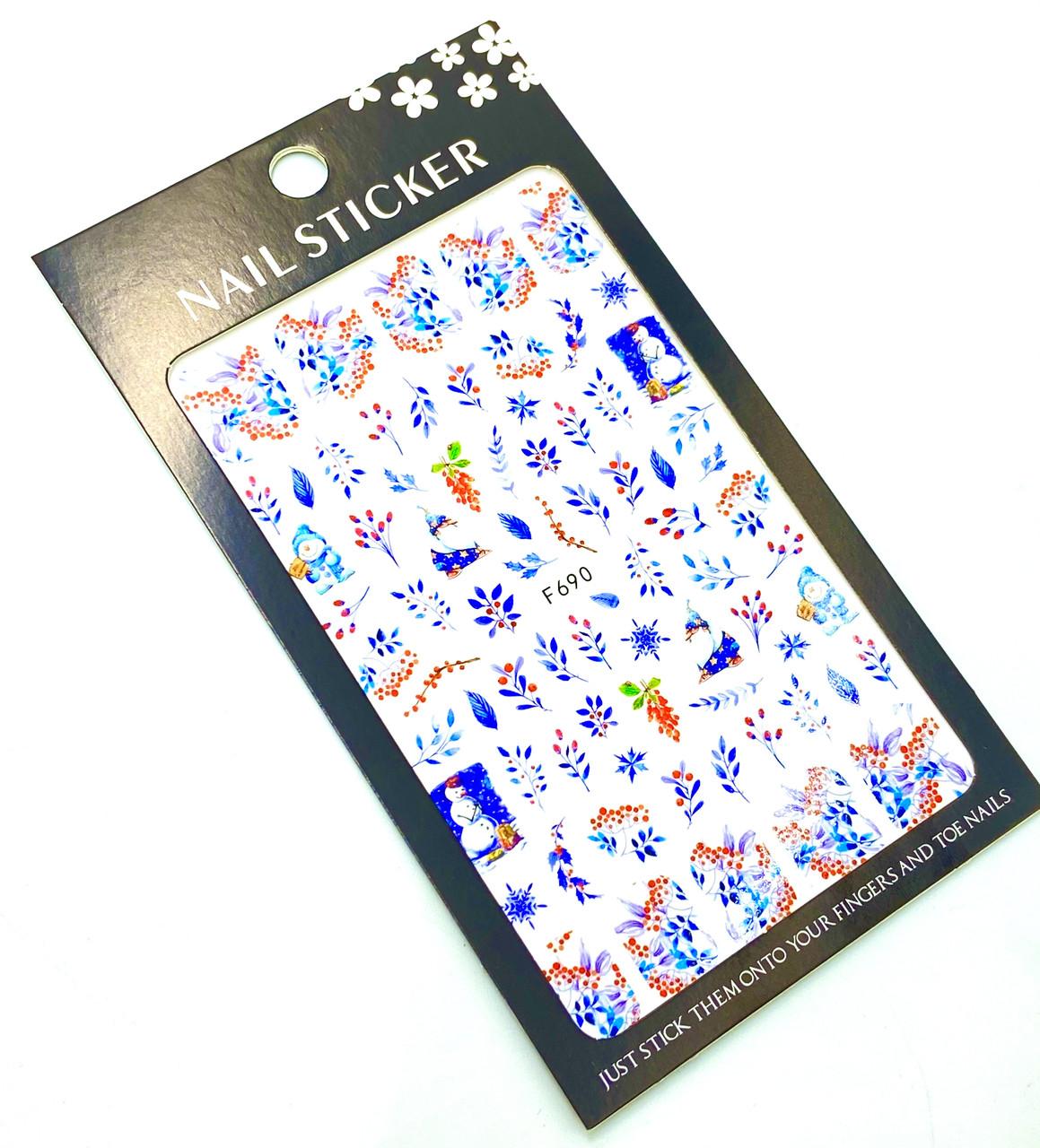 Наклейка  для дизайна ногтей  на липкой основе 690