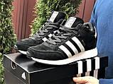 Зимние кроссовки Adidas Iniki мужские черные с белым (ботинки в стиле адидас иники), фото 2