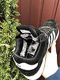 Зимние кроссовки Adidas Iniki мужские черные с белым (ботинки в стиле адидас иники), фото 6