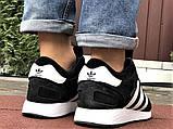 Зимние кроссовки Adidas Iniki мужские черные с белым (ботинки в стиле адидас иники), фото 3