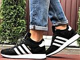 Зимние кроссовки Adidas Iniki мужские черные с белым (ботинки в стиле адидас иники), фото 5