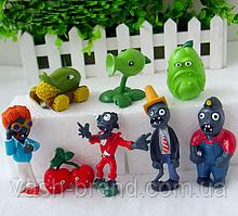 Игрушки Растения против зомби Набор фигурок 8 штук Plants vs zombies