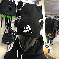 Теплая мужская спортивная шапка Adidas Prankster Black